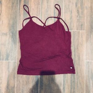 American Eagle Burgundy Tank Top